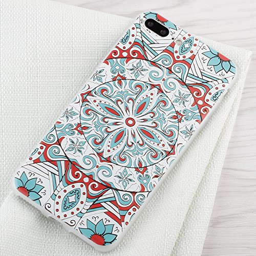 "iPhone 7 Plus Hülle , Leiai Mode Farbe Lotus TPU Weich Tasche Schutzhülle Silikon Handyhülle Stoßdämpfende Schale Fall Case Shell für Apple iPhone 7 Plus 5.5"""