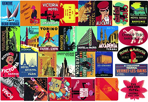 Vintage Travel Decal - Mengo Buy Sticker Pack (56-Pcs) Hotel Style Graffiti Sticker Decals Vinyls for Laptop,Kids,Teens,Cars,Motorcycle,Bicycle,Skateboard Luggage,Bumper Stickers Hippie Decals bomb Waterproof