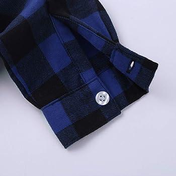 Agoky Niños Niñas Unisex Camisa de Cuadros Clásico Tops Blusa de Algodón de Cuello Manga Larga con Botones Infántil Casual 18 Meses - 10 Años Azul Marino 18-24 Meses: Amazon.es: Ropa y accesorios