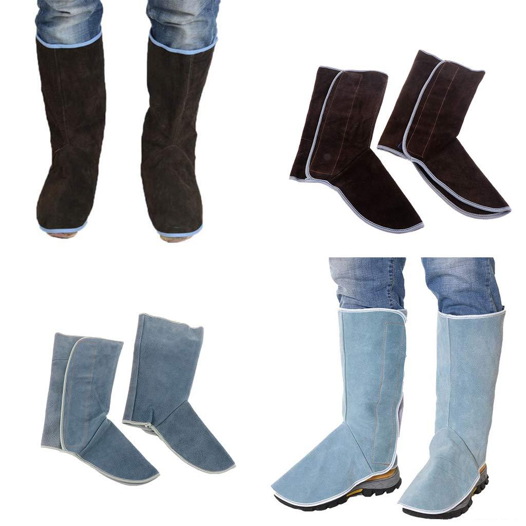 Baosity Heavy Duty Leather Welding Coat Work Apron XXL+ 1Pair Welding Foot Covers - Heat Resistant & Flame Resistant BBQ Apron, Adjustable, Brown by Baosity (Image #8)