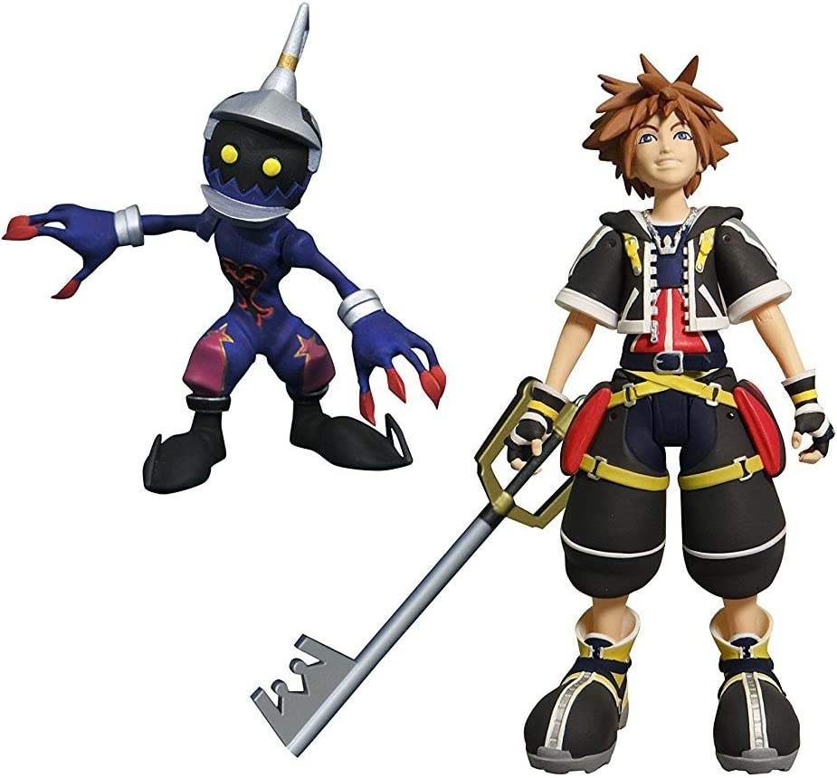 Disney KINGDOM HEARTS Sora Roxas Mickey Axel Shadow /& Soldier Goofy Diamond