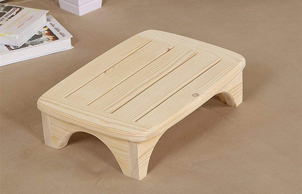 Chuan Han ハンドメイド 100%無垢材 ステップスツール キッチンスツール ベッドラダー 小さなはしご バスルームスツール 木製カラー   B07KQTKGNV