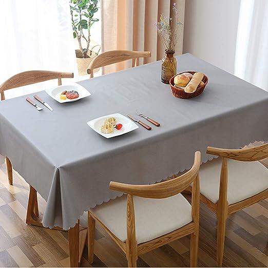L&T PVC Impermeable Mantel Rectangular, Color Sólido Lavables ...