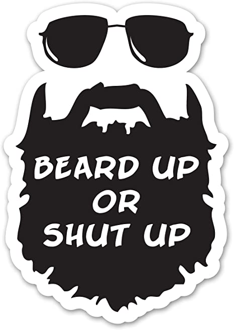 Amazon.com: Ninja Pickle Beard Up Decal for Your Car Or ...