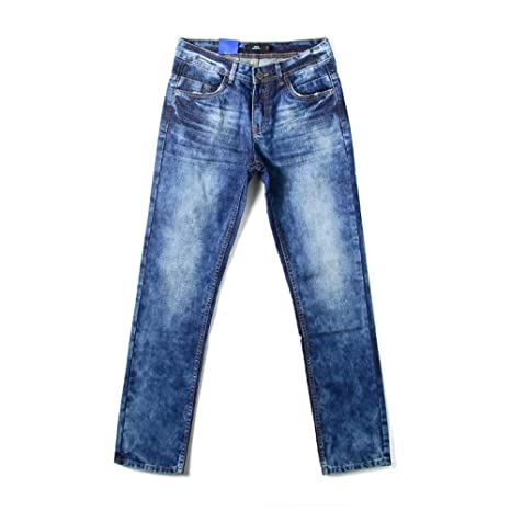 Weentop Jeans Informales de Copo de Nieve para Hombre ...