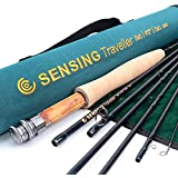 Maxcatch Traveler Fly Fishing Rod: 7-piece IM10 Carbon Rod with Cordura tube in 5/6/7/8 weight