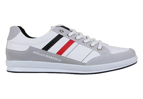 Megan Harisson - Zapatillas de Lona para hombre, color Blanco, talla 44: Amazon.es: Zapatos y complementos