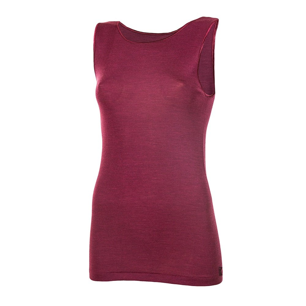 Janus 85% Merino Wool 15% Silk Women's Tank Top Machine Washable Made in Italy. (EU 46 (XXL), Lilac) by Janus