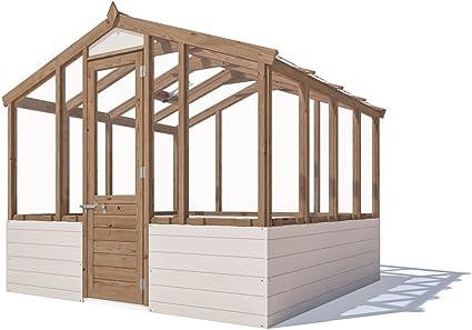 Lujo de madera invernadero automático de ventilación vidrio endurecido de la claraboya – Dunster House®: Amazon.es: Jardín