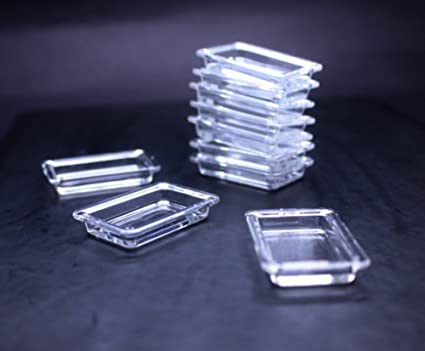 Set of 10 Black Tray Plastic Container Dollhouse Miniatures Supply Food Fruit
