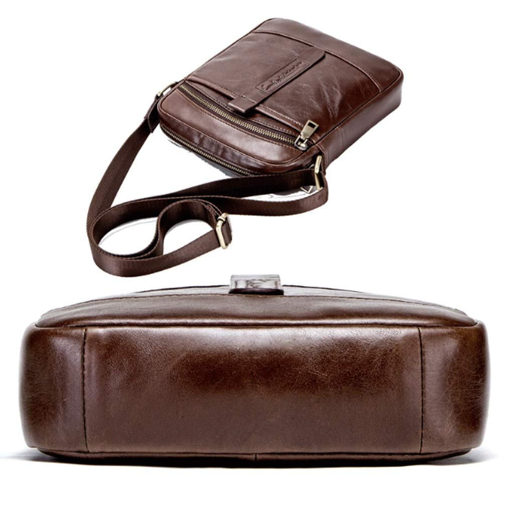 RXF Messenger Bag for Men Top Layer Leather Casual Travel Bike Bag Color : A