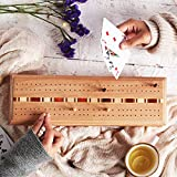 storeindya Premium Wooden Cribbage Game Set with 2 Packs of Playing Cards - Perfect Christmas & Birthday Gift