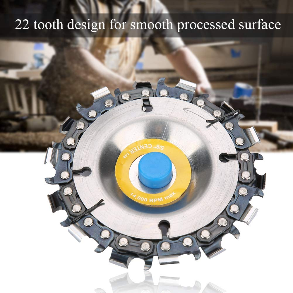 #3 4 22 Tooth 4 22 Tooth Grinder Disc Chain Plate Woodworking Chain Wheel for 100//115mm Angle Grinder