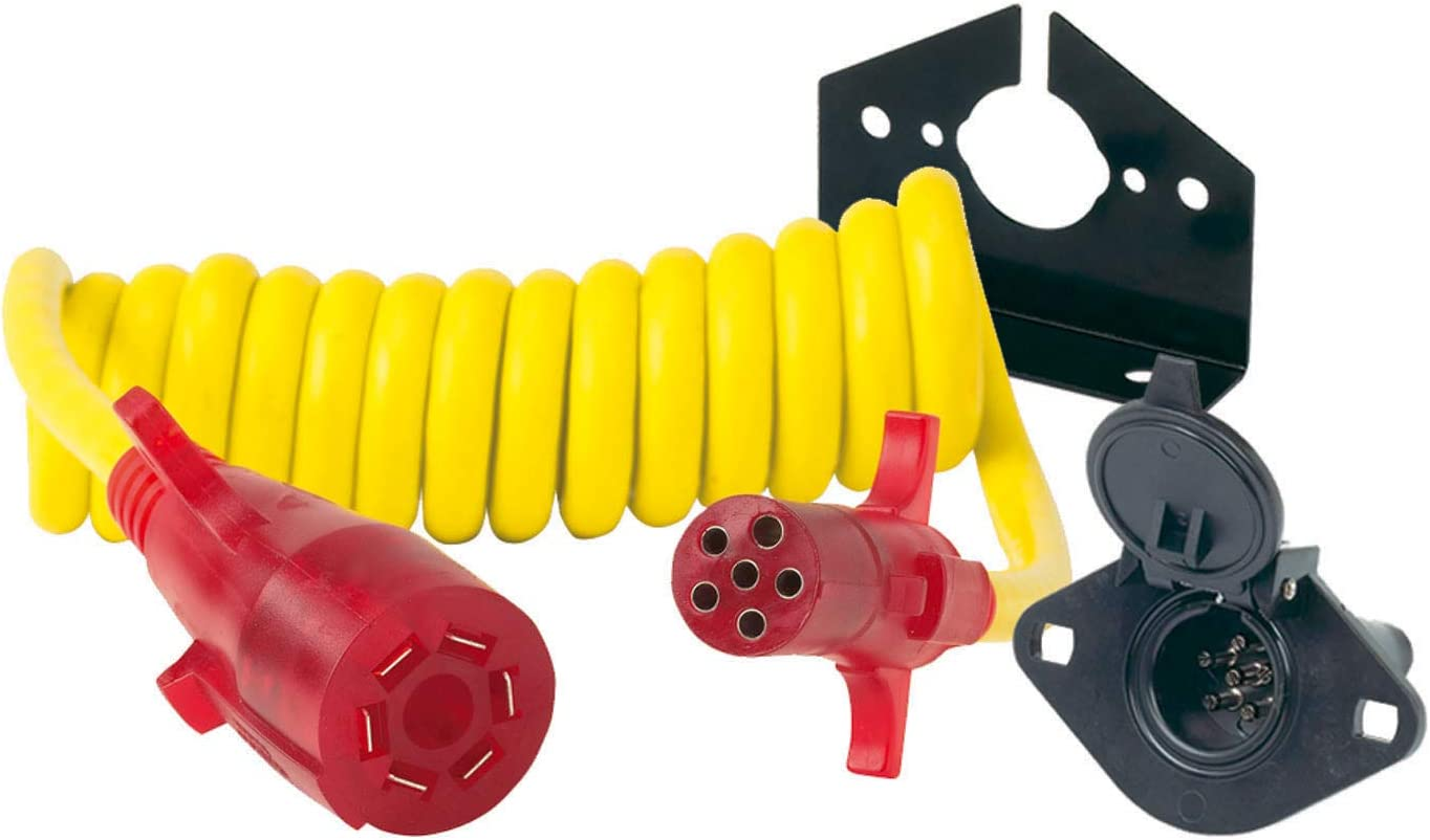Hopkins  Endurance 7 RV Blade to 4 Pole Round Nite-Glow Flex Coil Adapter