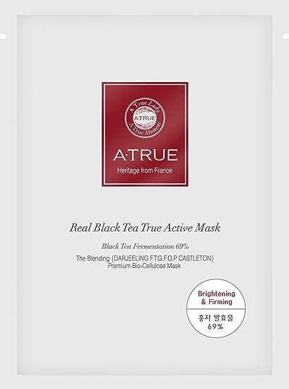 A-True - Real Black Tea True Active Mask, Mascarilla Facial, Pack de 10 Uds: Amazon.es: Belleza