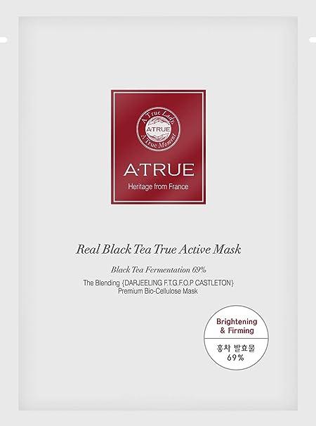 A-True - Real Black Tea True Active Mask, Mascarilla Facial, Pack ...