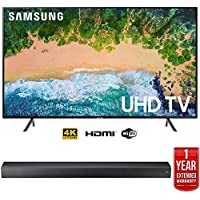 Samsung UN75NU7100 75 NU7100 Smart 4K UHD TV (2018) w/Premium Soundbar Warranty Bundle