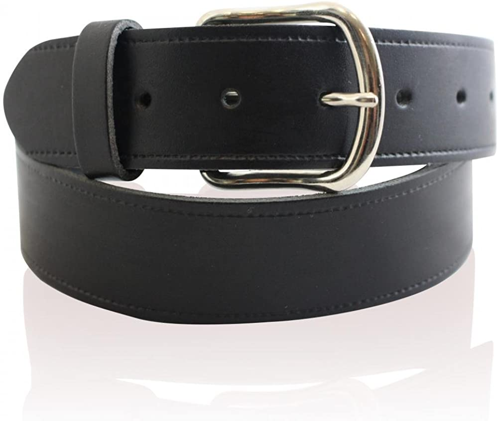 Mens Real Leather 1.25 Black Belt Full Real Leather Belts Made in England 26-55