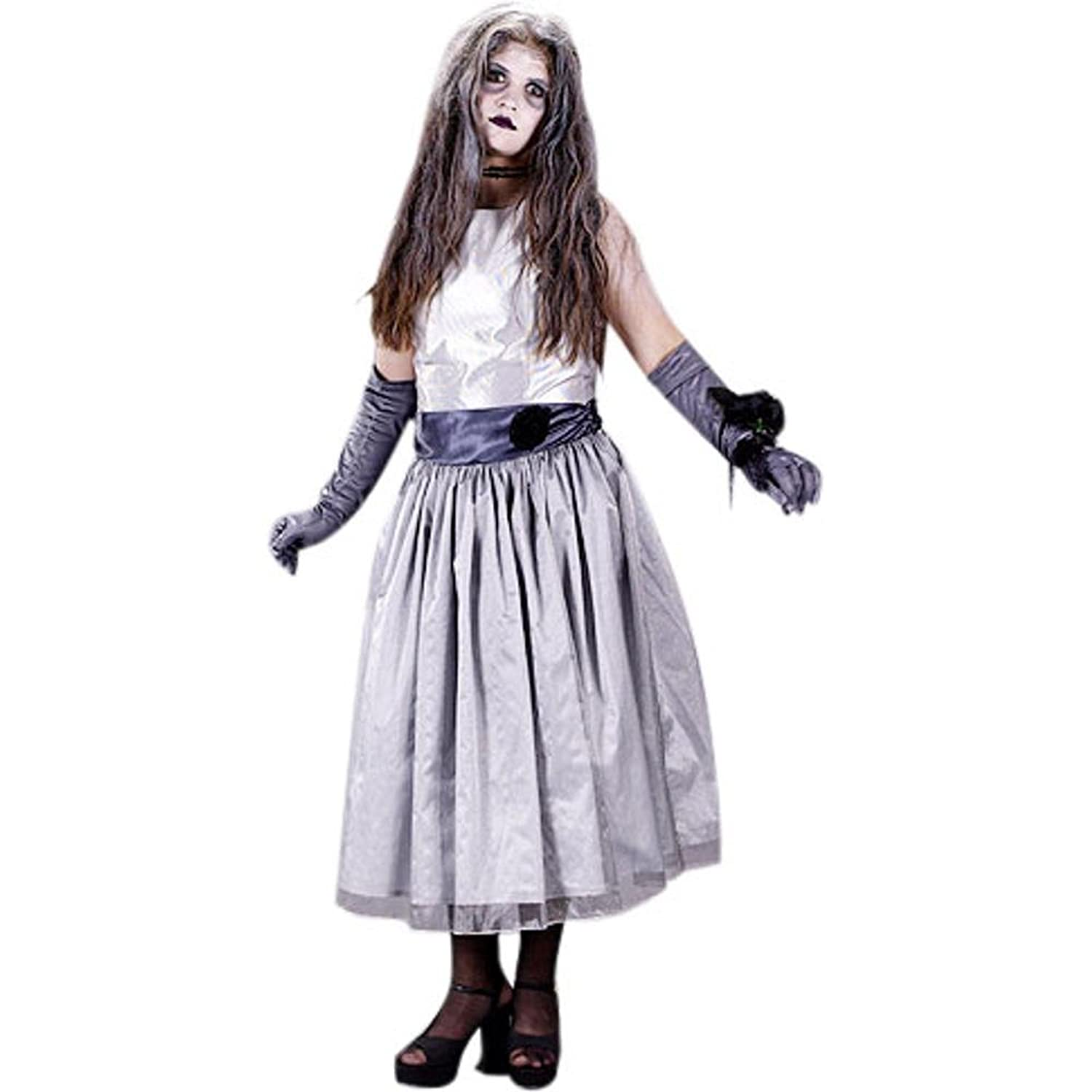 sc 1 st  Amazon.com & Amazon.com: Girlu0027s Teen Prom Zombie Halloween Costume (Sz: 9): Clothing