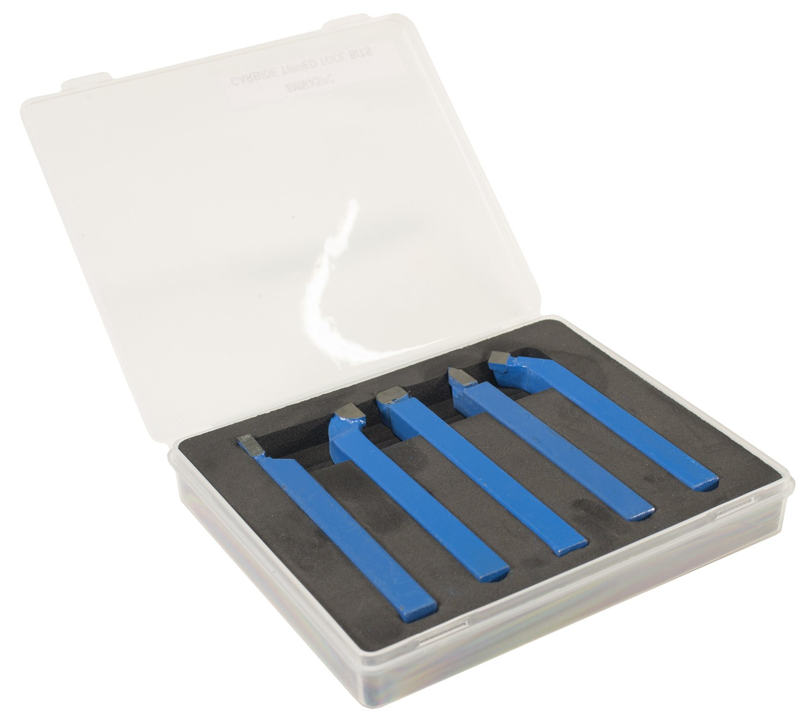 Erie Tools 5 Piece Cutting Set 5/16'' Tungsten Carbide Tips for Mini Metal Lathe by Erie Tools