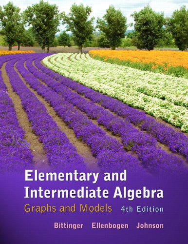 [PDF] Elementary and Intermediate Algebra: Graphs and Models, 4th Edition Free Download | Publisher : Addison Wesley | Category : Science | ISBN 10 : 0321726340 | ISBN 13 : 9780321726346