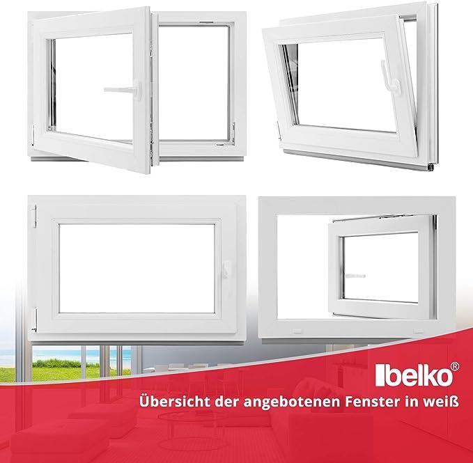 Kellerfenster BxH: 55x55 cm schneller Versand wei/ß 60mm Profil 3-fach-Verglasung verschiedene Ma/ße Kunststoff DIN links Fenster