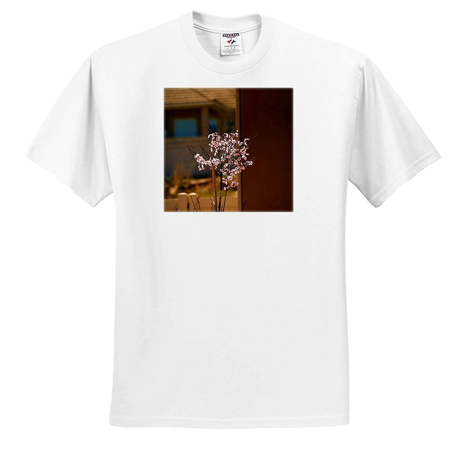 T-Shirts Happy Tree A Tree with Pink Flowers Budding Out on it 3dRose Jos Fauxtographee