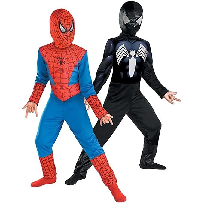 Amazon.com Reversible Spider-Man Red To Black Classic Costume Child M(7-8) Clothing  sc 1 st  Amazon.com & Amazon.com: Reversible Spider-Man Red To Black Classic Costume ...