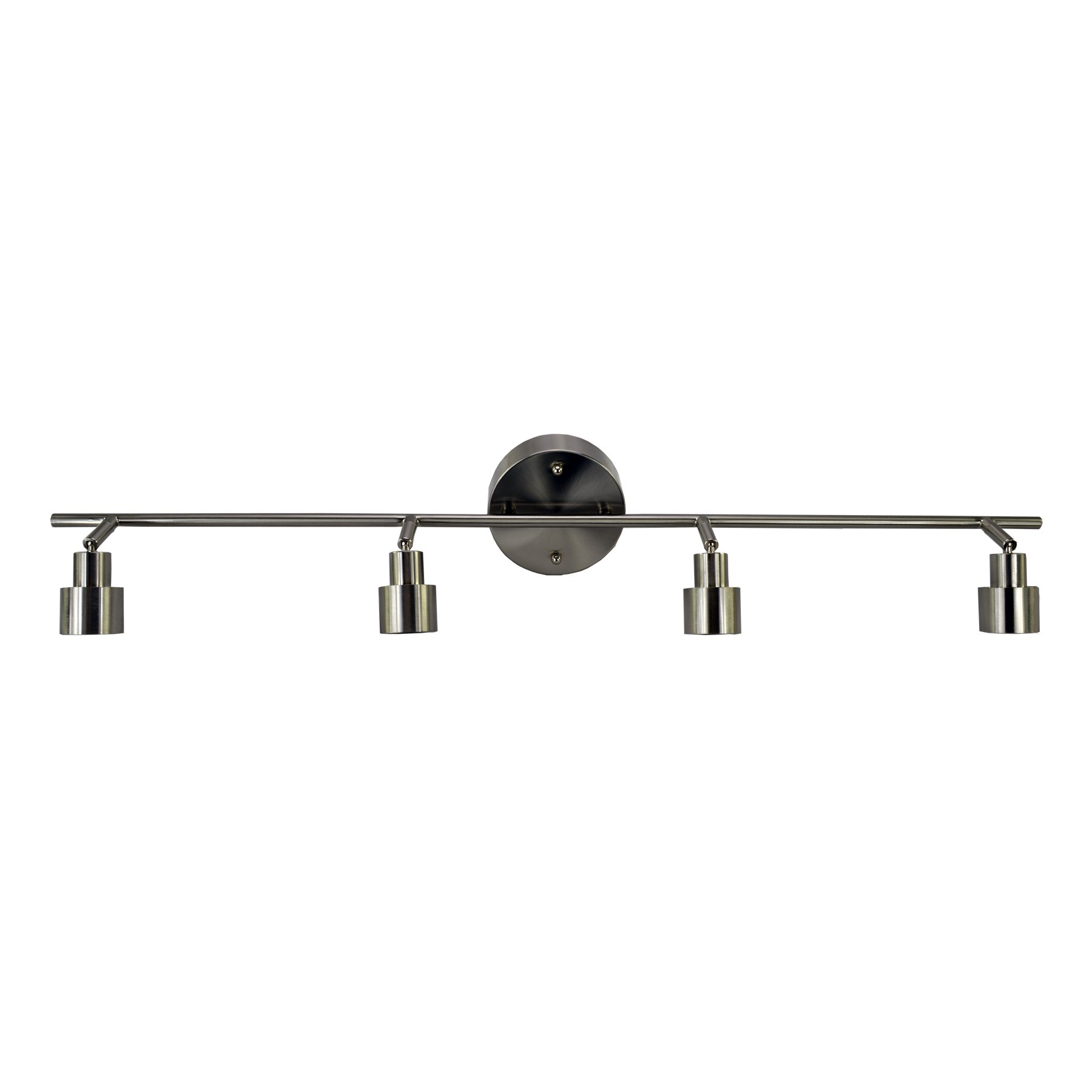HomeSelects 7521 22W Led Dimmable 4 Light Track Light - Brushed Nickel 22W Led Dimmable 4 Light Track Light - Brushed Nickelbrushed Nickel