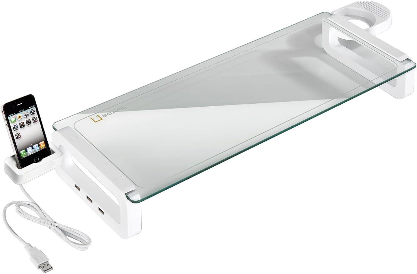 Wentronic - Soporte de sobremesa para monitor (3 puertos USB y ...