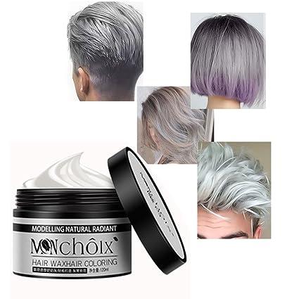 Tinte capilar, kission Granny Grey Modeling color Wax tinte desechable
