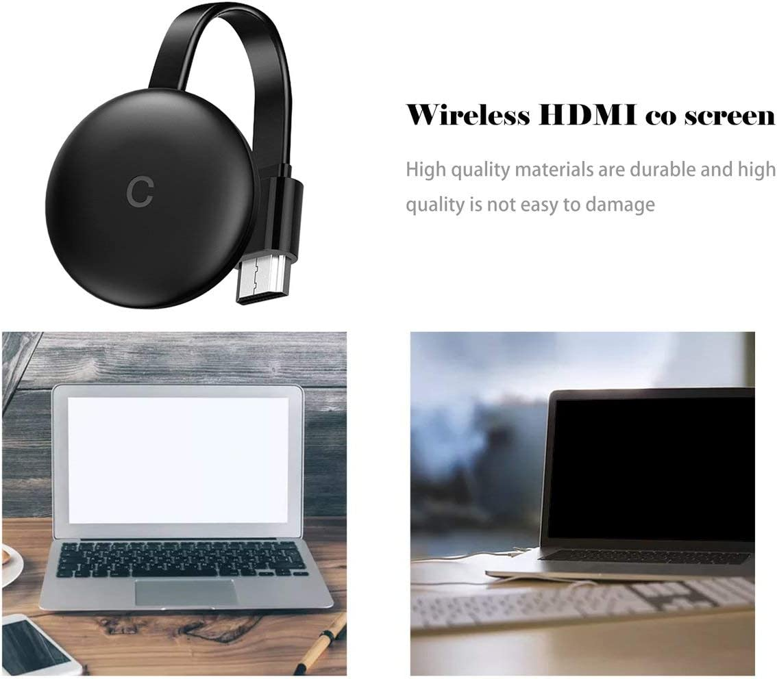 ShiningXX 2.4 G WiFi HDMI Receptor de pantalla inal/ámbrico para Chromecast Google Pusher adaptador de espejado Miracast Airplay DLNA