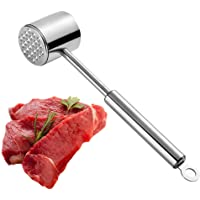 Ballery Meat Tenderiser Hammer, Professional Meat Hammer Dual Sided Long Handle Kitchen Cooking Tool for Beef, Steak, Chicken, Fish, Pork, Veal