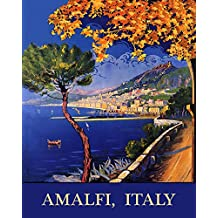"""Amalfi Salerno Italy Coast Beaches Italia Italian Travel Tourism 11"""" X 14"""" Image Size SHIPPED ROLLED Vintage Poster Reproduction we have other sizes available"""