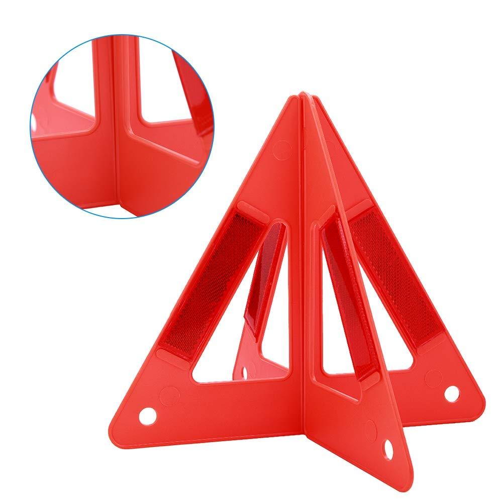 Dibiao Triangolo Riflettente per Auto Segnale di Stop Stradale Riflettente Portatile di Sicurezza