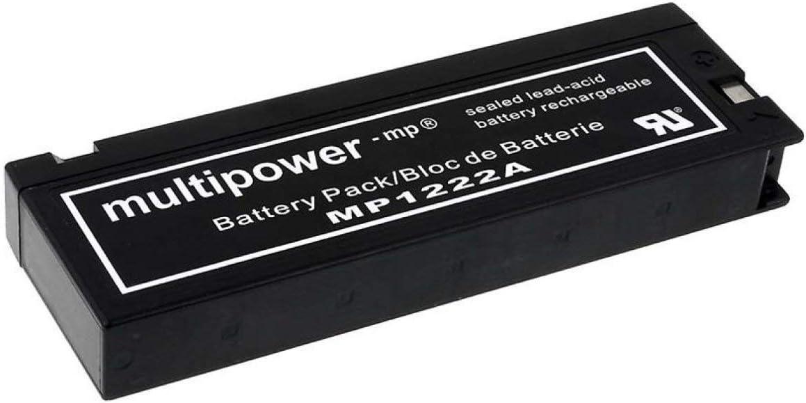 BATERIA para Panasonic tipo vw-vbf2 12 2ah//24wh Lead-Acid negro
