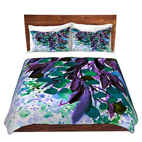 Regency King Sham - DiaNoche Designs Duvet Cover Brushed Twill Twin, Queen, King Sets by Artist Julia Di Sano - Botanical Regency IV Teal Purple Home Decor, Bedroom and Bedding Ideas