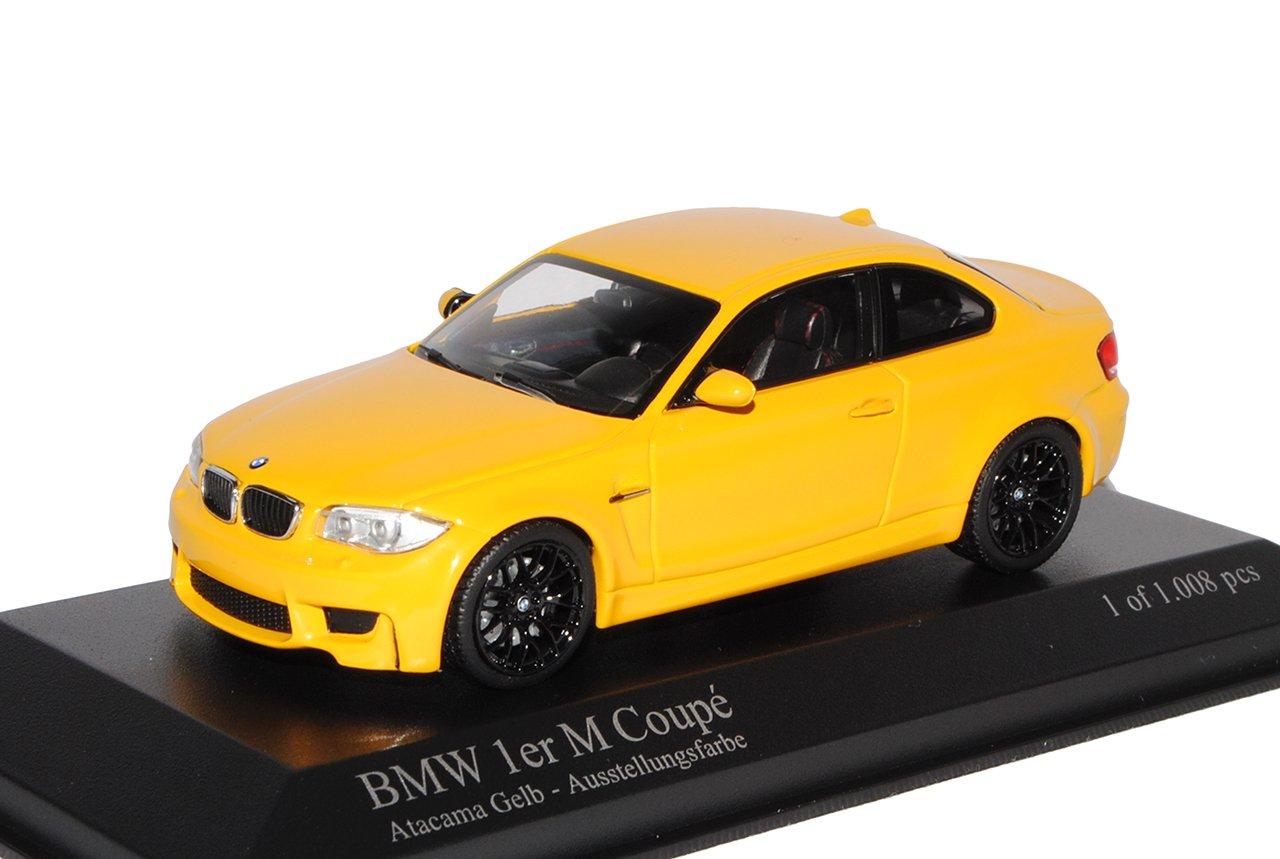 Minichamps BMW 1er 1 M Coupe Coupe Gelb E82 2007-2013 1/43 Modell Auto mit individiuellem Wunschkennzeichen