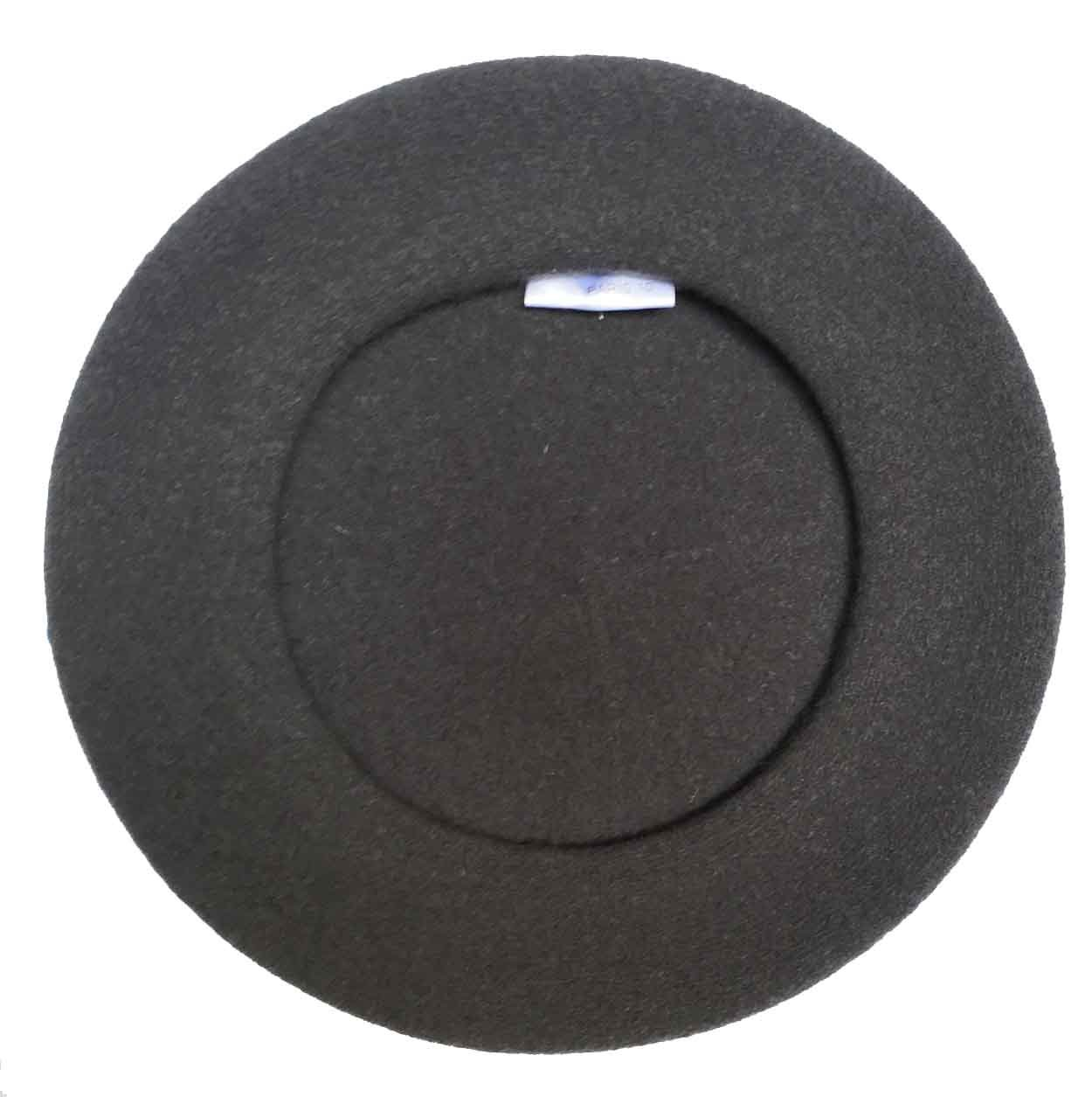 Laulhere Traditional French Wool Beret, Dark Gray by Laulhere