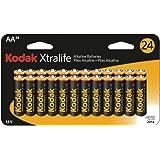KODAK XLAA24 XTRALIFE(TM) ALKALINE BATTERIES (AA; 24 PK)