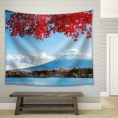Original Creation, Wonderful Piece of Art, Mt Fuji in Autumn Fabric Wall