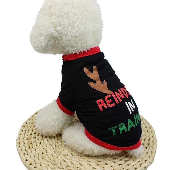 Ropa para Mascotas,Dragon868 Navidad Mascota Perro Camisetas de Navidad Cachorro Traje: Amazon.es: Ropa y accesorios