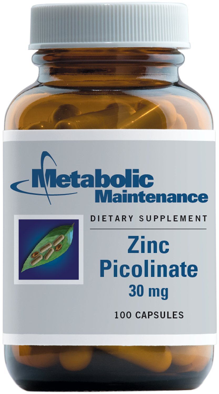 Metabolic Maintenance - Zinc Picolinate - 30 mg, Superior Absorption, 100 Capsules