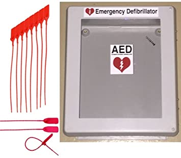 Defibrillator AED Cabinet Box With Window   Weather Resistant Waterproof  Enclosure