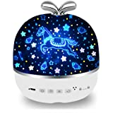 Rechargeable Star Night Light Projector, 6 Projector Films Night Projector, 360 Degree Rotation Projector Light, 8…