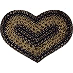 CWI Gifts Braided Ebony Heart Rug, 20 x 30