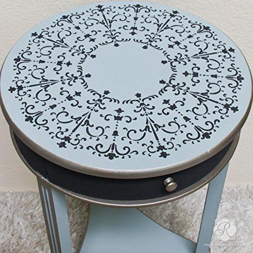 San Bartolo Medallion Furniture Stencil - Italian Design for Painting DIY Decor