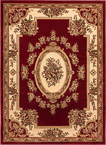 Well Woven Timeless Le Petit Palais Red Traditional Area Rug 5'3
