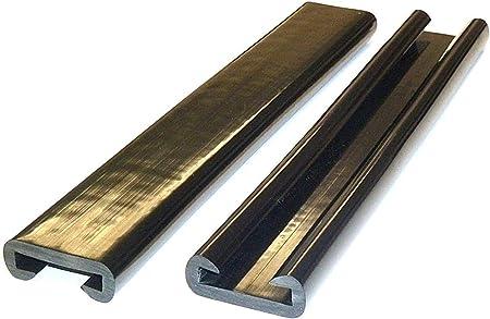 D/&S Vertriebs Main courante en plastique PVC et plastique Vert fluo 1 m x 40 x 8 mm