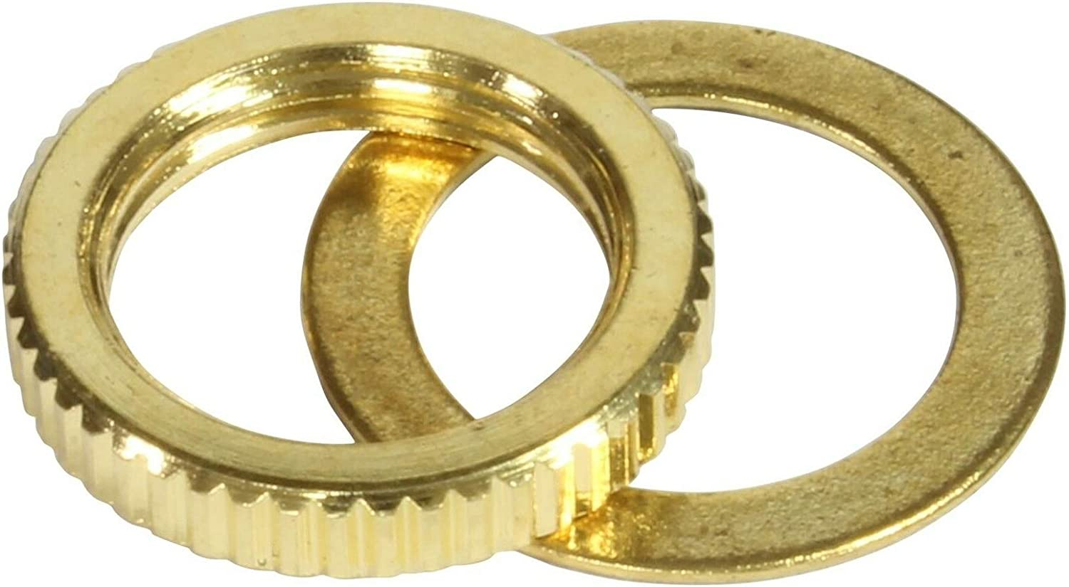Nut and Washer gold for Toggle Switch Metric Fine Knurl M12 x 1.25 2 pcs